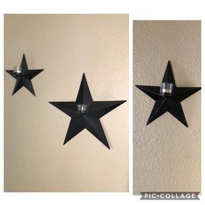 Set of 3 Gold Canyon Star candle holders
